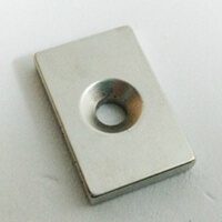 Rectangle Countersunk Magnet