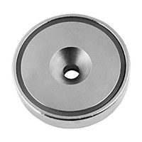 round pot countersunk magnet
