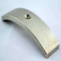 countersunk segment magnet